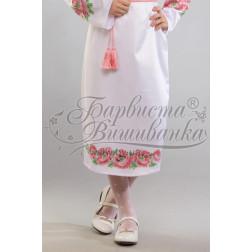 Набір бісеру Preciosa для вишивки бісером до заготовки дитячої спіднички – вишиванки на 3-5 років Маки рожеві БС015дБ28ннb