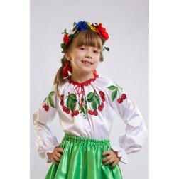 Набір бісеру Preciosa для вишивки бісером до заготовки дитячої блузки – вишиванки на 1-3 років Вишеньки БД002пБ28ннb
