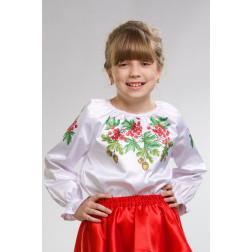 Набір бісеру Preciosa для вишивки бісером до заготовки дитячої блузки – вишиванки на 1-3 років Калина і дубок БД007пБ28ннb