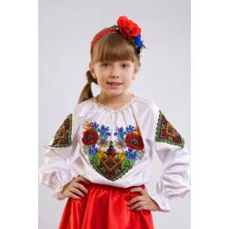 Набір бісеру Preciosa для вишивки бісером до заготовки дитячої блузки – вишиванки на 1-3 років Польова БД008пБ28ннb