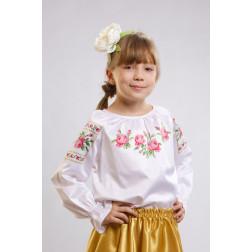 Набір ниток DMC для вишивки хрестиком до заготовки дитячої блузки – вишиванки на 1-3 років Троянди БД009кБ28ннh