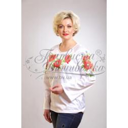 Набір бісеру Preciosa для вишивки бісером до заготовки жіночої блузки – вишиванки Маки, ромашки, волошки БЖ001дБннннb