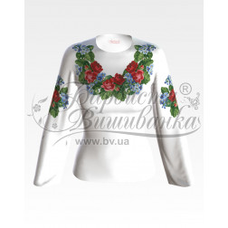 Набір ниток DMC для вишивки хрестиком до заготовки жіночої блузки – вишиванки Троянди і незабудки БЖ004дБннннh