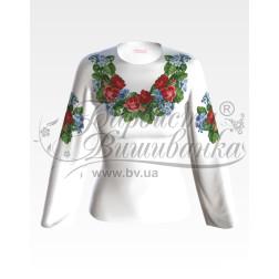 Набір бісеру Preciosa для вишивки бісером до заготовки жіночої блузки – вишиванки Троянди і незабудки БЖ004дБннннb