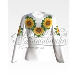 Набір бісеру Preciosa для вишивки бісером до заготовки жіночої блузки – вишиванки Соняхи БЖ012дБннннb
