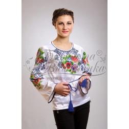 Набір бісеру Preciosa для вишивки бісером до заготовки жіночої блузки – вишиванки Маки і незабудки. Молодіжна БЖ014дБннннb