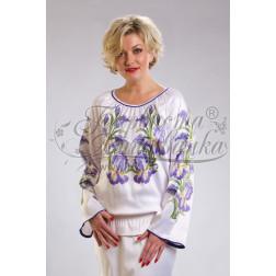 Набір бісеру Preciosa для вишивки бісером до заготовки жіночої блузки – вишиванки Іриси БЖ015дБннннb