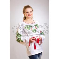 Набір бісеру Preciosa для вишивки бісером до заготовки жіночої блузки – вишиванки Цвіт калини БЖ016дБннннb
