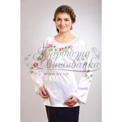 Набір бісеру Preciosa для вишивки бісером до заготовки жіночої блузки – вишиванки Тендітні троянди БЖ017дБннннb