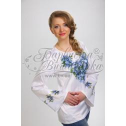 Набір бісеру Preciosa для вишивки бісером до заготовки жіночої блузки – вишиванки Сині квіти БЖ018дБннннb
