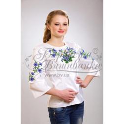 Набір бісеру Preciosa для вишивки бісером до заготовки жіночої блузки – вишиванки Ромашки і волошки БЖ019дБннннb