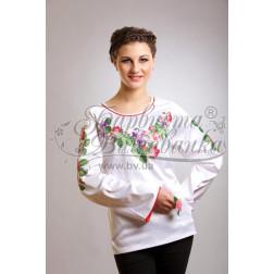 Набір бісеру Preciosa для вишивки бісером до заготовки жіночої блузки – вишиванки Троянди і фіалки БЖ022дБннннb