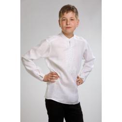 Сорочка для хлопчиків вишита машинною вишивкою гладдю ХС604лБ3405