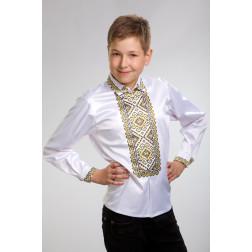 Заготовка дитячої сорочки на 1-3 років Кучерява безмежність для вишивки бісером СД001кМ28нн