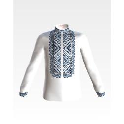 Заготовка дитячої сорочки на 1-3 років для вишивки бісером і нитками Барвиста Вишиванка Кучерява безмежність СД002дБ28нн