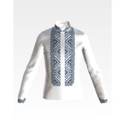 Заготовка дитячої сорочки на 4-7 років для вишивки бісером і нитками Барвиста Вишиванка Кучерява безмежність СД002дБ34нн