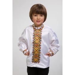 Заготовка дитячої сорочки на 4-7 років Прикарпаття. Оберіг для вишивки бісером СД003кБ34нн