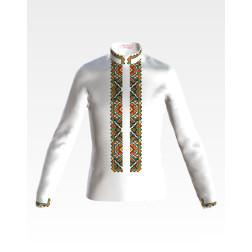 Заготовка дитячої сорочки на 4-7 років для вишивки бісером і нитками Барвиста Вишиванка Борщівська квітка СД004дБ34нн