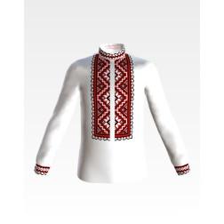 Заготовка дитячої сорочки на 1-3 років для вишивки бісером і нитками Барвиста Вишиванка Старовинний орнамент СД008дБ28нн