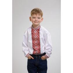 Заготовка дитячої сорочки на 1-3 років Старовинний орнамент для вишивки бісером СД008кБ28нн