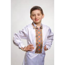 Заготовка дитячої сорочки на 1-3 років Прикарпаття для вишивки бісером СД011кБ28нн