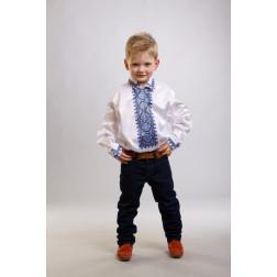 Заготовка дитячої сорочки на 1-3 років Ніжність для вишивки бісером СД012кМ28нн