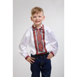 Заготовка дитячої сорочки на 1-3 років Вогняна для вишивки бісером СД015кБ28нн