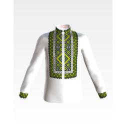 Заготовка дитячої сорочки на 1-3 років Вогняна для вишивки бісером СД016шБ28нн