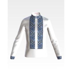 Заготовка дитячої сорочки на 4-7 років для вишивки бісером і нитками Барвиста Вишиванка Небесна блакить СД041дБ34нн