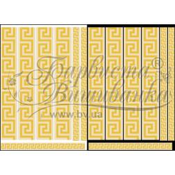 Комплект чеського бісеру Preciosa до водорозчинного неклейового флізеліну (канви) з нанесеним малюнком ФЛ004фн2030b