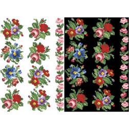 Схема для вишивки бісером на водорозчинному неклейовому флізеліні Барвиста Вишиванка Канва з нанесеним малюнком 20х30 ФЛ013фн2030