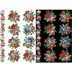 Схема для вишивки бісером на водорозчинному неклейовому флізеліні Барвиста Вишиванка Канва з нанесеним малюнком 20х30 ФЛ014фн2030