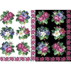 Схема для вишивки бісером на водорозчинному неклейовому флізеліні Барвиста Вишиванка Канва з нанесеним малюнком 20х30 ФЛ015фн2030