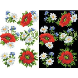 Схема для вишивки бісером на водорозчинному клейовому флізеліні Барвиста Вишиванка Канва з нанесеним малюнком 20х30 ФЛ031гн2030