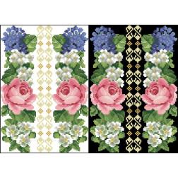 Схема для вишивки бісером на водорозчинному клейовому флізеліні Барвиста Вишиванка Канва з нанесеним малюнком 20х30 ФЛ044гн2030
