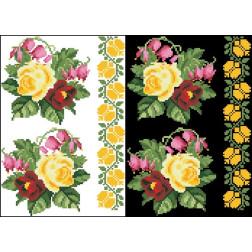 Схема для вишивки бісером на водорозчинному неклейовому флізеліні Барвиста Вишиванка Канва з нанесеним малюнком 20х30 ФЛ061фн2030