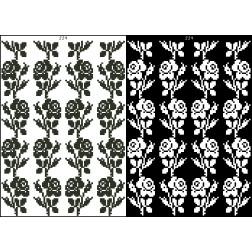 Схема для вишивки бісером на водорозчинному клейовому флізеліні Барвиста Вишиванка Канва з нанесеним малюнком 20х30 ФЛ224гн2030