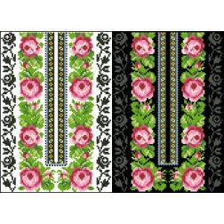 Схема для вишивки бісером на водорозчинному клейовому флізеліні Барвиста Вишиванка Канва з нанесеним малюнком 20х30 ФЛ225гн2030