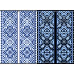 Схема для вишивки бісером на водорозчинному клейовому флізеліні Барвиста Вишиванка Канва з нанесеним малюнком 20х30 ФЛ234гн2030