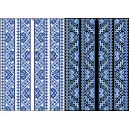 Схема для вишивки бісером на водорозчинному клейовому флізеліні Барвиста Вишиванка Канва з нанесеним малюнком 20х30 ФЛ235гн2030