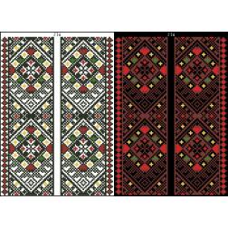 Схема для вишивки бісером на водорозчинному клейовому флізеліні Барвиста Вишиванка Канва з нанесеним малюнком 20х30 ФЛ236гн2030