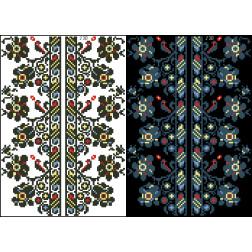 Схема для вишивки бісером на водорозчинному клейовому флізеліні Барвиста Вишиванка Канва з нанесеним малюнком 20х30 ФЛ238гн2030