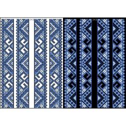 Схема для вишивки бісером на водорозчинному клейовому флізеліні Барвиста Вишиванка Канва з нанесеним малюнком 20х30 ФЛ243гн2030