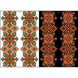 Схема для вишивки бісером на водорозчинному клейовому флізеліні Барвиста Вишиванка Канва з нанесеним малюнком 20х30 ФЛ244гн2030