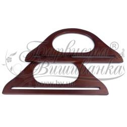 Дерев'яні ручки для сумок РУ003бК2512