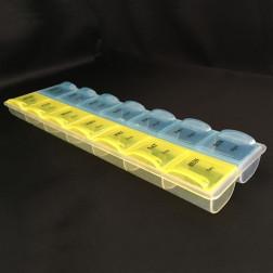 Органайзер кольоровий для бісеру (14 ячейок) 21х6х2,5см РУ040оХ2106
