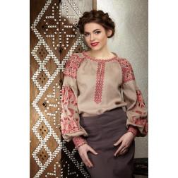 Пошита жіноча вишиванка БОХО для вишивання нитками Молодіжна ЖЕ001лК4201_004_005