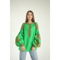 Пошита жіноча вишиванка БОХО для вишивання нитками Молодіжна ЖЕ001лТ4201_034_033