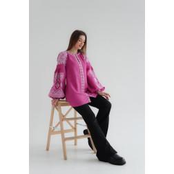Комплект ниток ДМС до жіночої блузки – вишиванки БОХО Намисто ЖЕ003лПнн02_018_001h