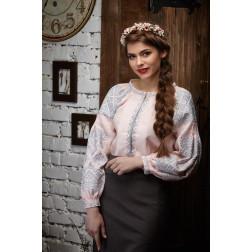 Пошита жіноча вишиванка БОХО для вишивання нитками Намисто ЖЕ003лП4202_020_016